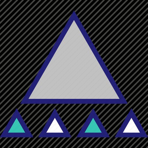 abstract, big, creative, design, triangle icon