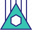 abstract, creative, design, power, triangle icon