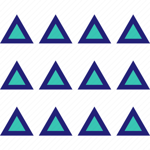 abstract, creative, design, triangles icon