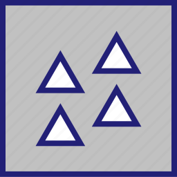 abstract, creative, design, triangles, up icon