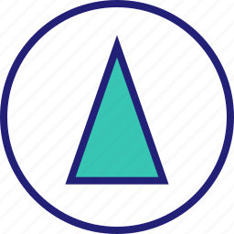 abstract, cone, design, shape, up icon