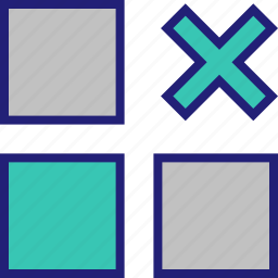 abstract, design, shape, x icon