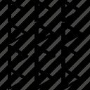 abstract, creative, design, triangles icon