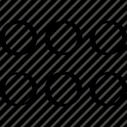 abstract, creative, design, dots, three icon