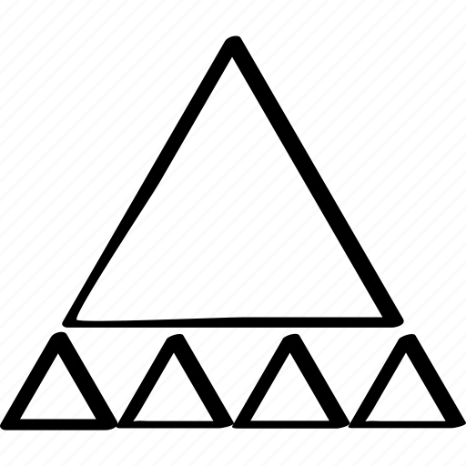 abstract, creative, design, many, triangles icon