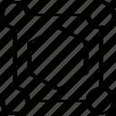 abstract, creative, design, edit, hexagon icon