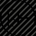 arrow, exit, now, point, pointer icon