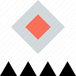 abstract, center, creative, cube, design icon
