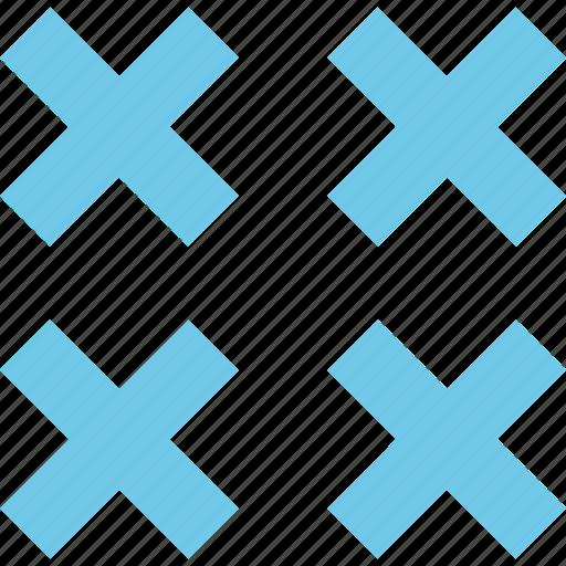 abstract, creative, design, errors, x icon
