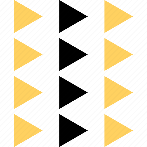 abstract, creative, design, four, lines, triangles icon