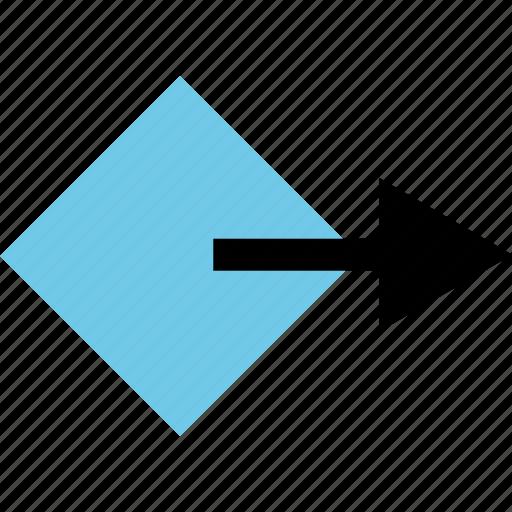 abstract, arrow, creative, design, go, next icon