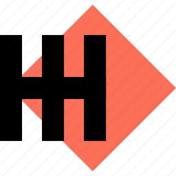 abstract, creative, cube, design, h, lines icon