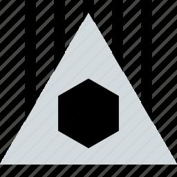 abstract, creative, design, hexagon, power icon