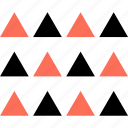 abstract, creative, design, multiple, triangles icon