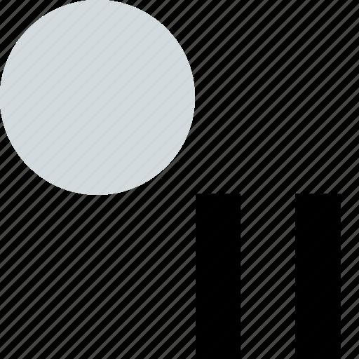 abstract, creative, design, dot, pause icon