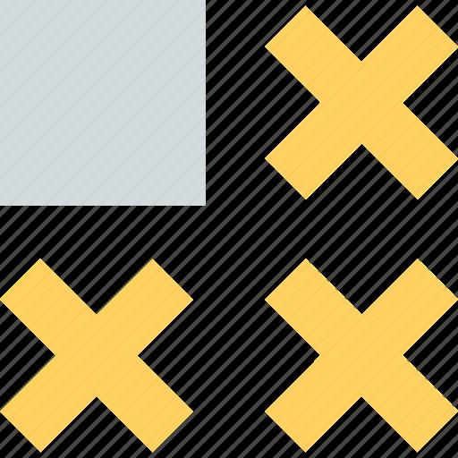 abstract, creative, design, three, x icon