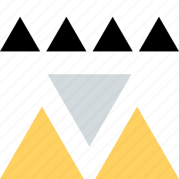 abstract, creative, design, playful, triangle icon