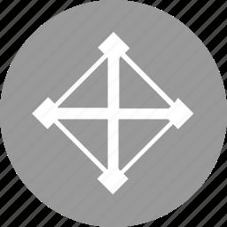abstract, creative, design, shape icon