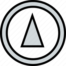 abstract, arrow, cone, design, up icon