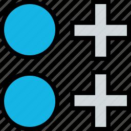 abstract, compare, comparing, creative icon