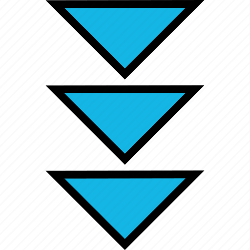 abstract, design, down, pointer icon