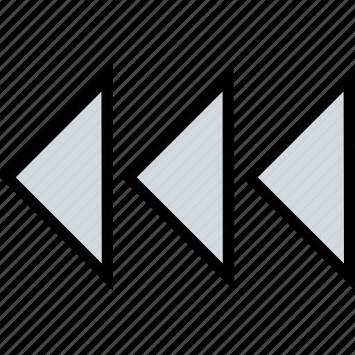 abstract, arrows, design, left, three icon