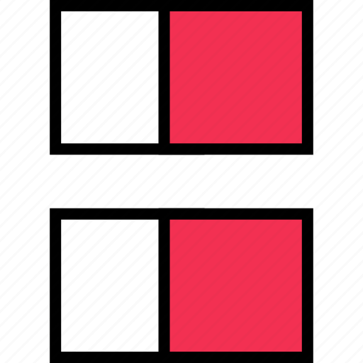 abstract, creative, lines, rectangles, two icon
