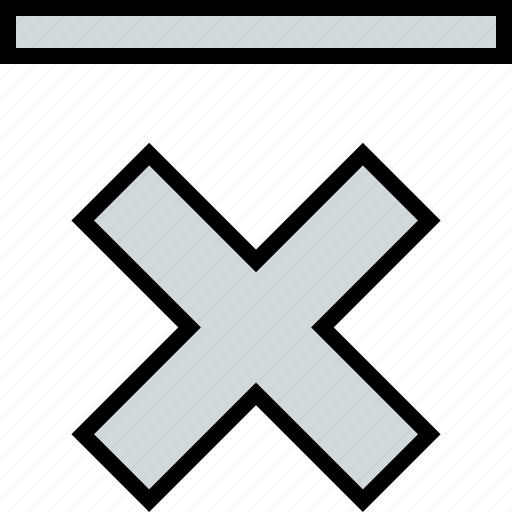 abstract, design, stop, x icon