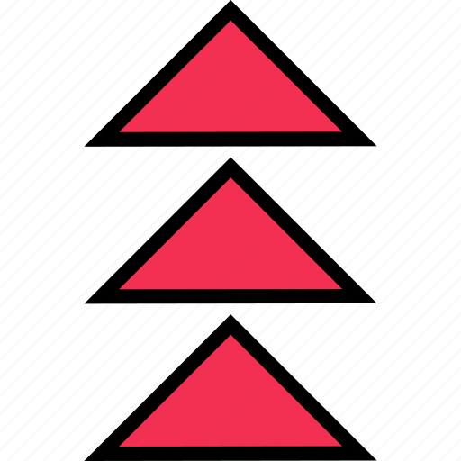 abstract, arrows, design, three, up icon