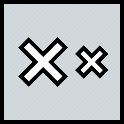 abstract, design, two, x icon