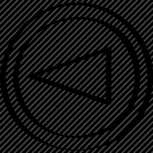 abstract, arrow, creative, design, left icon