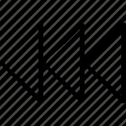 abstract, arrow, back, creative, design, left icon