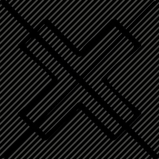 abstract, creative, cross, delete, design icon