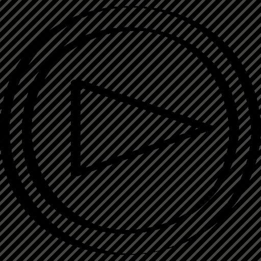 abstract, arrow, creative, design, right icon