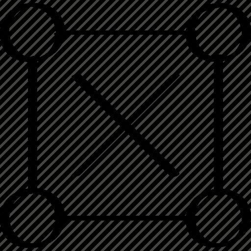 abstract, creative, delete, design, stop icon