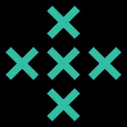 abstract, creative, cross, design, x icon