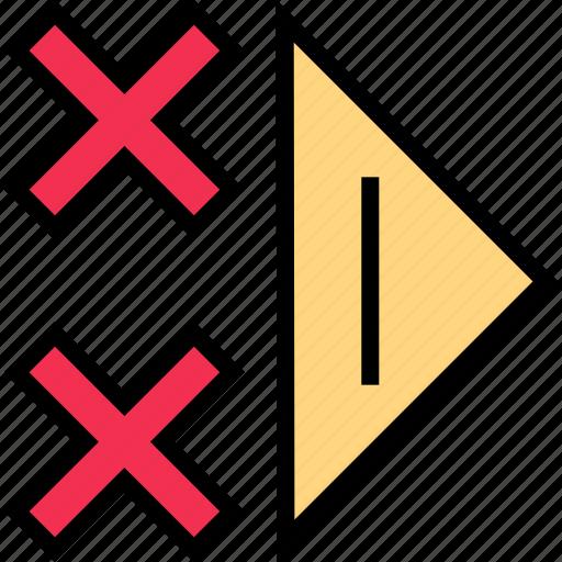 abstract, creative, design, right icon