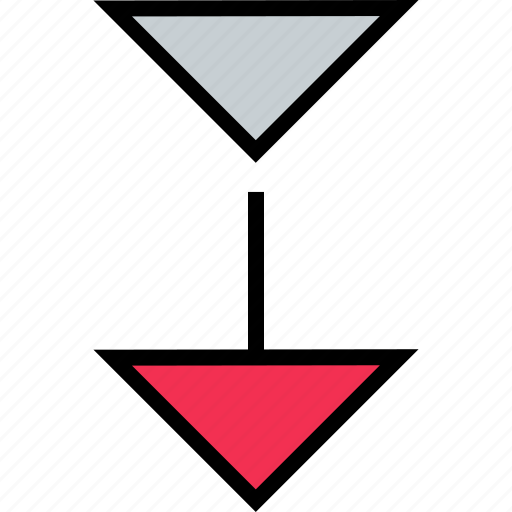 abstract, arrow, creative, download icon