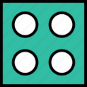 abstract, creative, design, dice, four icon