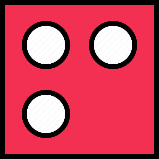 abstract, creative, design, dice, three icon