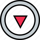 abstract, arrow, creative, design, down icon