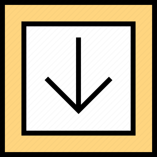 abstract, arrow, creative, design, down, think icon