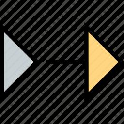 abstract, creative, forward, go icon
