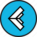 arrow, back, exit, left icon