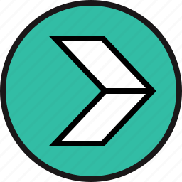 arrow, wired icon