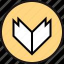 arrow, bold, down icon