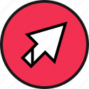 arrow, click, up icon