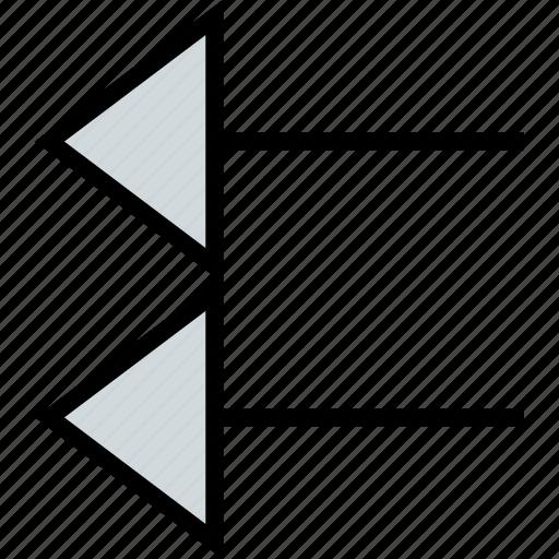 arrow, direction, exit, left, pointer icon