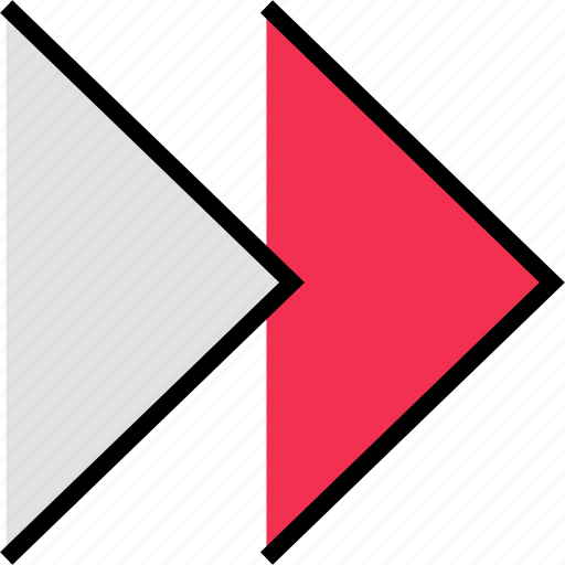 arrow, direction, double, point, right icon
