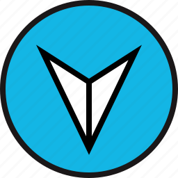 arrow, double, down icon